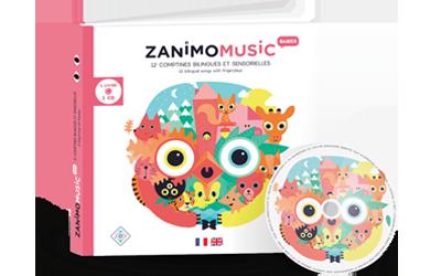 Sortie des Zanimomusic Babies :  12  comptines bilingues et sensorielles