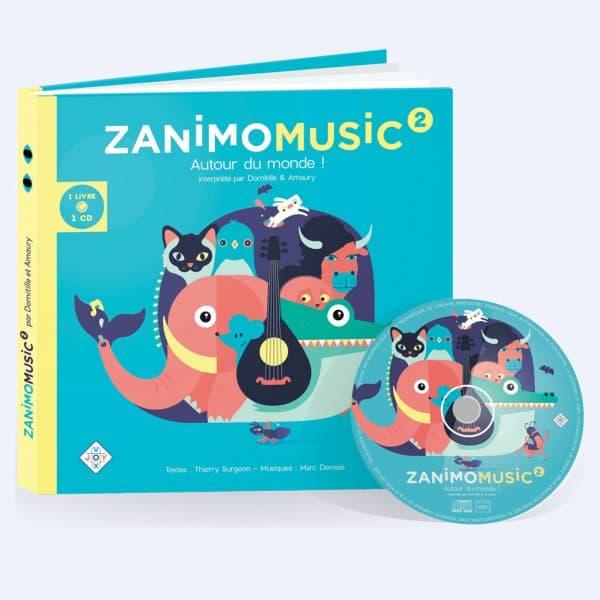 Couverture Zanimomusic 2 Autour du monde !