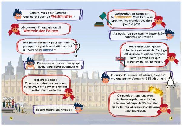 page intérieure carnet d'activités Londres