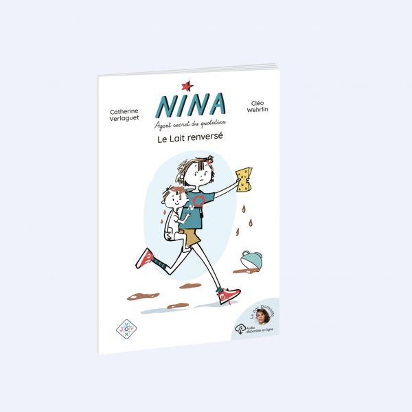 couverture Roman Nina, le lait renversé